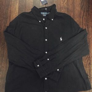 Ralph Lauren black long sleeve polo NWT XXL